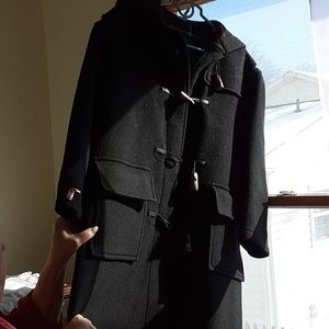 BURBERRY toggle coat size small with hood
